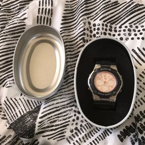 Baby G Shock black/rose gold/silver for sale
